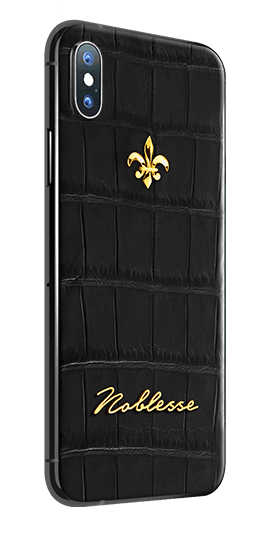 APPLE IPHONE NOBLESSE CROCO BLACK XS MAX