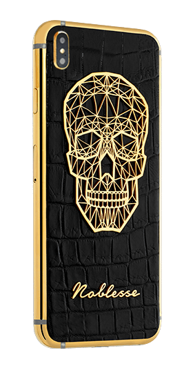 APPLE IPHONE NOBLESSE GOLD PLATED SKULL XS MAX