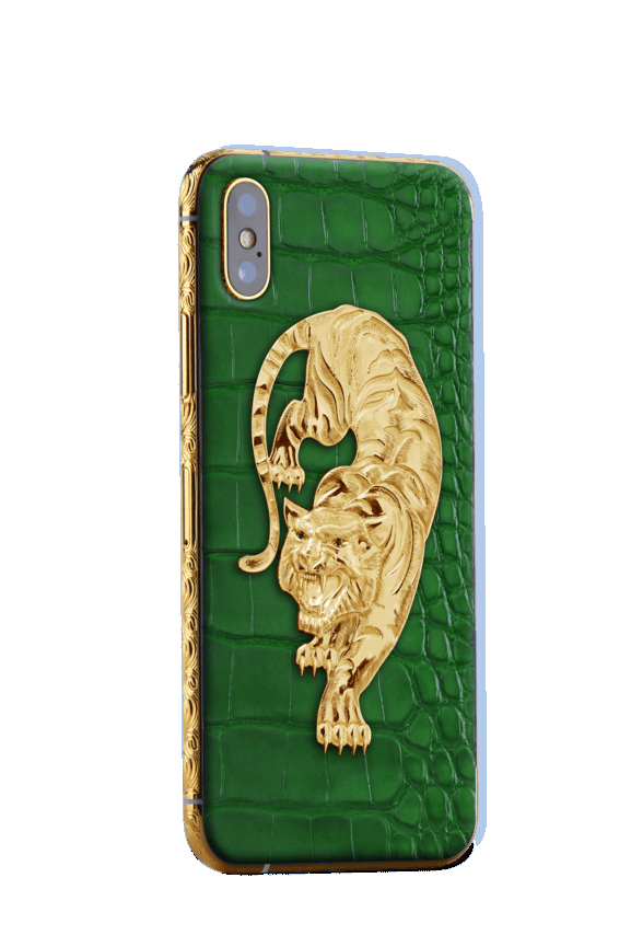 APPLE IPHONE NOBLESSE TIGER GOLD engraving XS