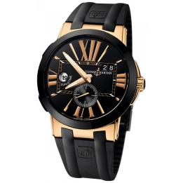 Золотые часы Ulysse Nardin Executive Dual Time 246-00-3-42