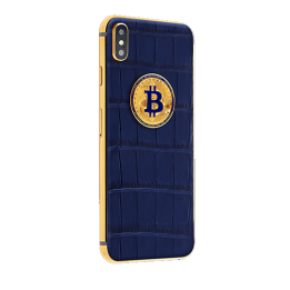 APPLE IPHONE NOBLESSE LUMINARY DARK BLUE Bitcoin X